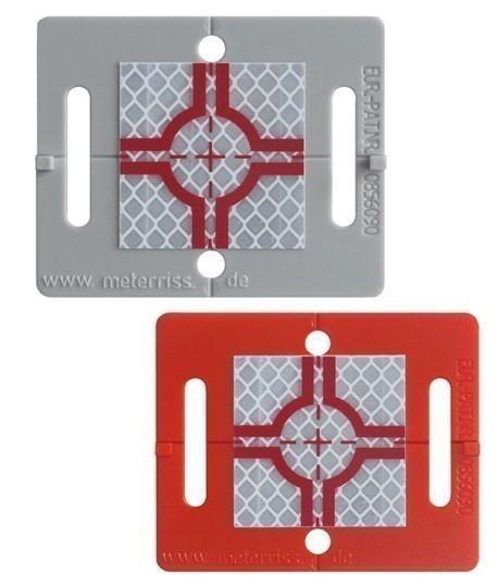 Cible reflechissante plaquette rs61, Vente de cible reflechissante, Topographie-lepont.fr