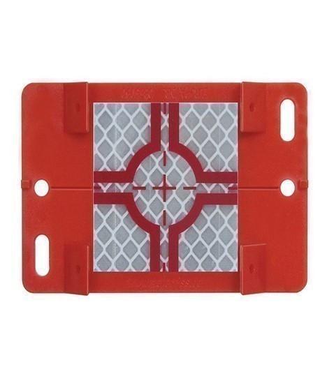 Plaque et cible reflechissante rouge ou grise, Vente de cible reflechissante, Topographie-lepont.fr