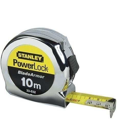 Powerlock, Vente de mesure courte en acier, Stanley, Ruban de mesure, Topographie-lepont.fr