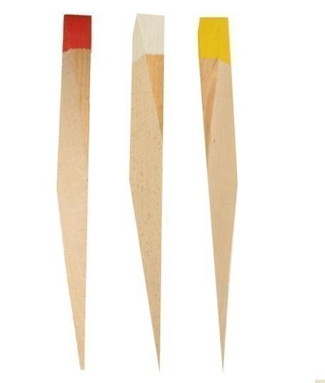 Piquet bois peint appointé