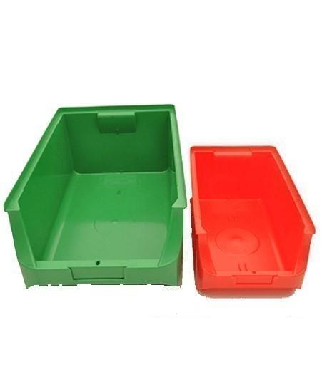 Bac de rangement 7L et 22L couleur rouge et vert, Vente de rangement pour accessoires, www.lepont.fr