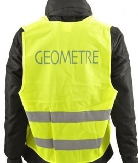 Gilet haute visibilité, Jaune Fluo, Marque Géomètre, Equipement de chantier, Topographie-lepont.fr