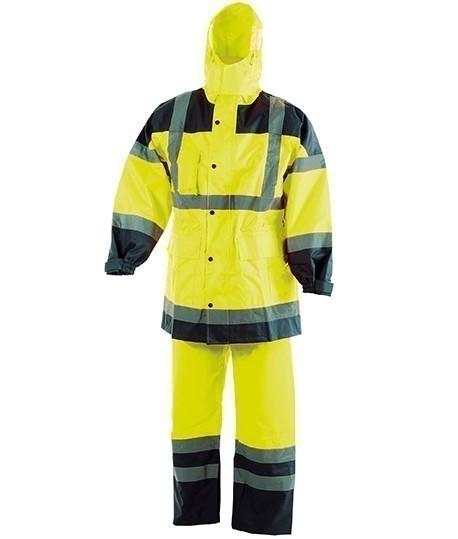Ensemble de pluie haute visibilité polyster, Vêtements de signalisation