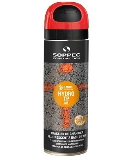 Traceur écologique SOPPEC Hydro TP, traceur de chantier, traceur hydro tp, www.lepont.fr