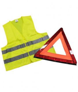 Kit avec gilet haute visibilité et triangle, Lepont Equipements