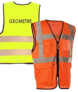 Gilet haute visibilité multi-poches géomètre