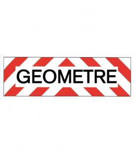 """Panneau marquage """"GEOMETRE"""" rétro-réfléchissantes - Lepont Equipements"""