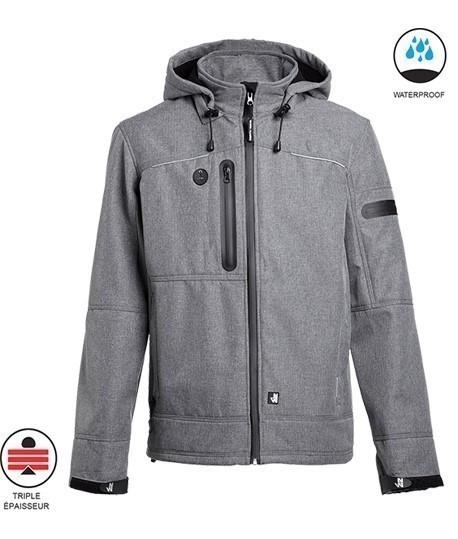 Blouson multipoches softshell triple épaisseur, Softhell, polaire, vêtements lepont.fr