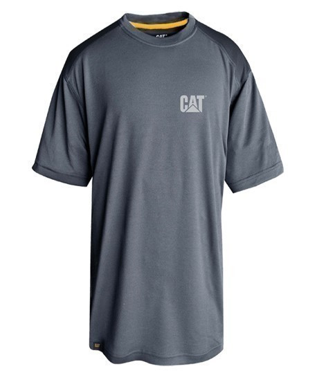 T-shirt respirant gris, anti-odeur, protection UV CAT - Lepont Equipements