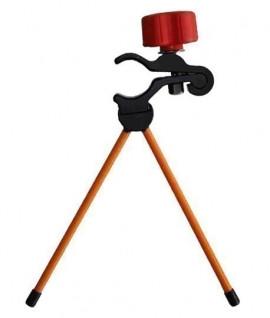Mini bipode support de canne Orange 18 cm, Nestlé, bipode, canne, porte-prisme-Topographie-lepont.f