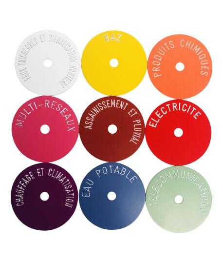 Rondelles d'identification, Vente de rondelles pour repères de positonnement, Topographie-lepont.fr