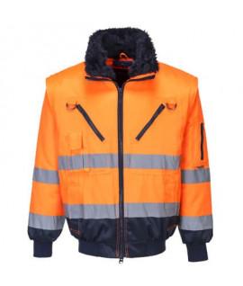 Blouson pilote haute visibilité 3 en 1 orange Portwest