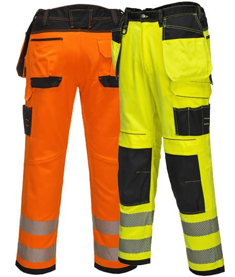 Pantalon de travail multipoches haute visibilité