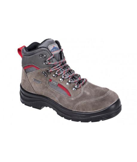 Chaussure montante waterproof cuir velours