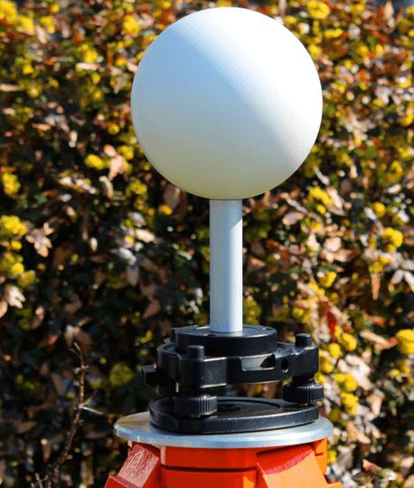 Adaptateur sphère scanner 3D pour embase LASERSCANNING