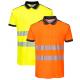 Polo confort anti-UV haute visibilité, vêtement de travail, EPI