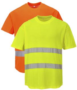 T-shirt confort haute visibilité en coton, vêtement de travail, EPI
