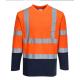 T-Shirt Col V manches longues haute visibilité PORTWEST