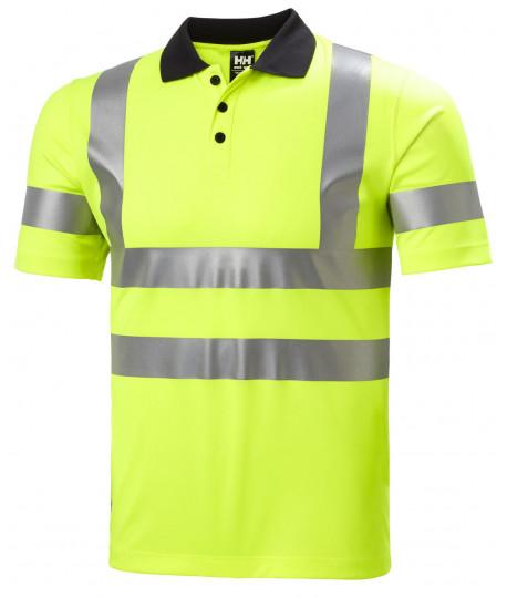 Polo haute visibilité jaune ou orange, polo respirant