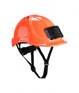 Casque de chantier premium avec porte-badge