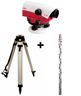 Niveau optique de chantier Leica NA728 + Trépied + Mire 4m