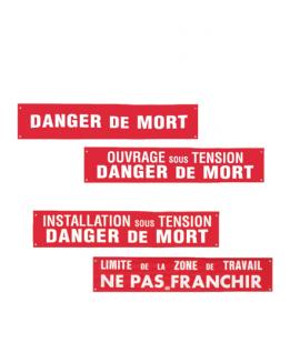 Banderole de signalisation danger, travaux de détection, CATU