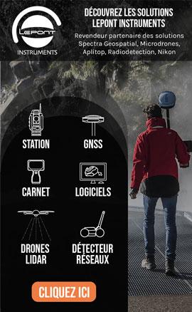 Solutions Lepont Instruments : Station Totale, GNSS, Carnet, Logiciels, Drones Lidar, Détecteur réseaux