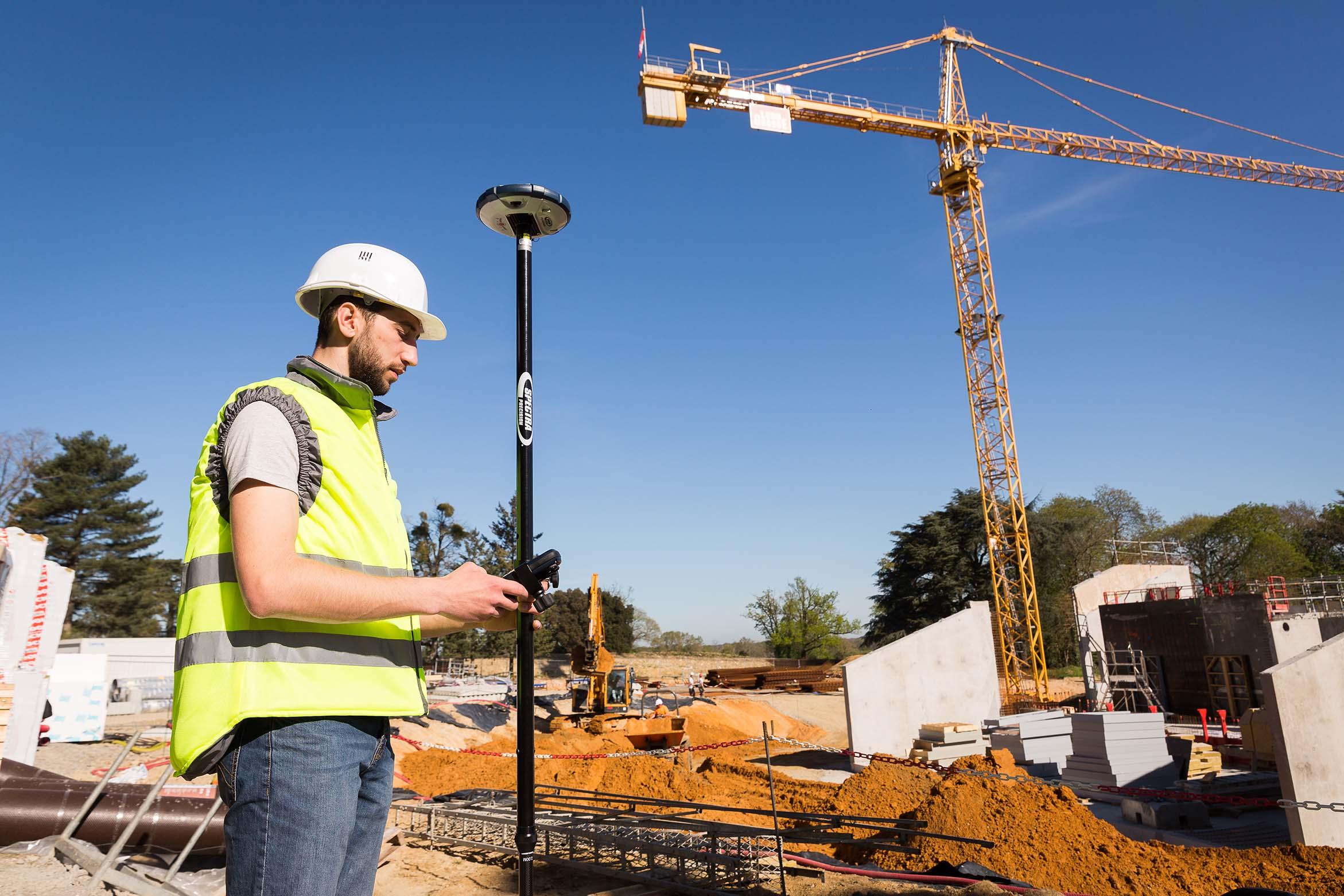 Utilisation du SP60 lors d'un chantier