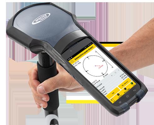 Découvrez le logiciel Spectra Survey Mobile en application avec un carnet Spectra SP20
