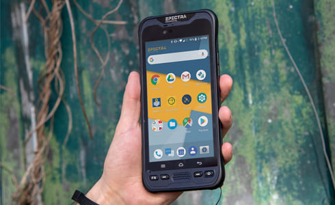 Utilisation smartphone Spectra MM60