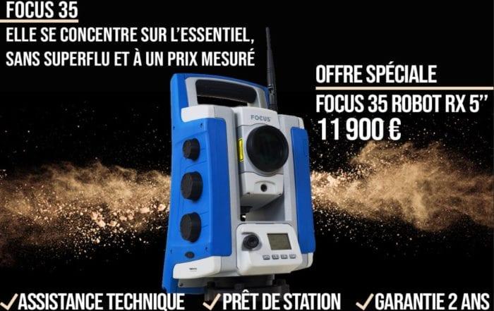 Offre spéciale station totale Topographie FOCUS35