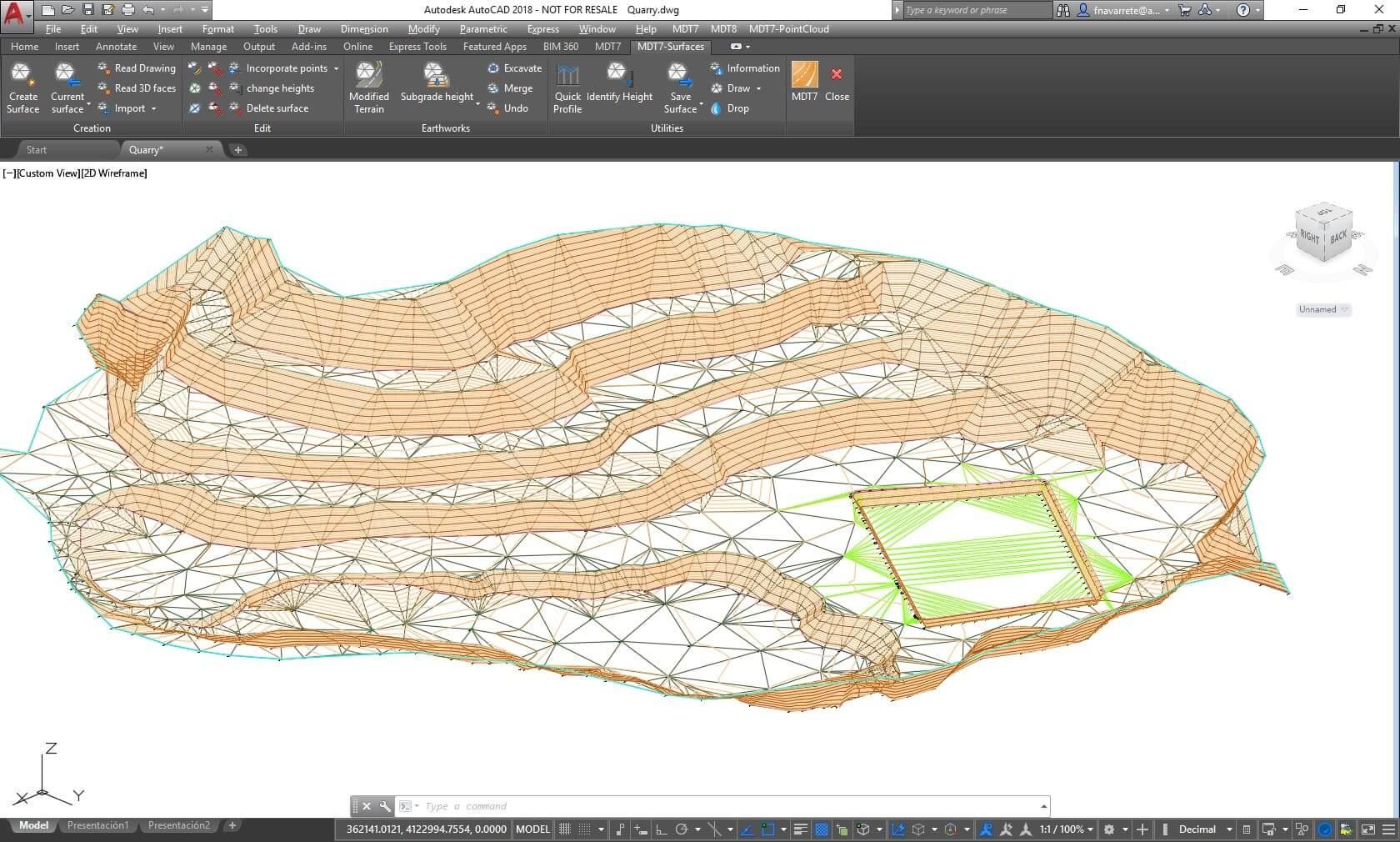Capture d'écran du logiciel tcpmdt