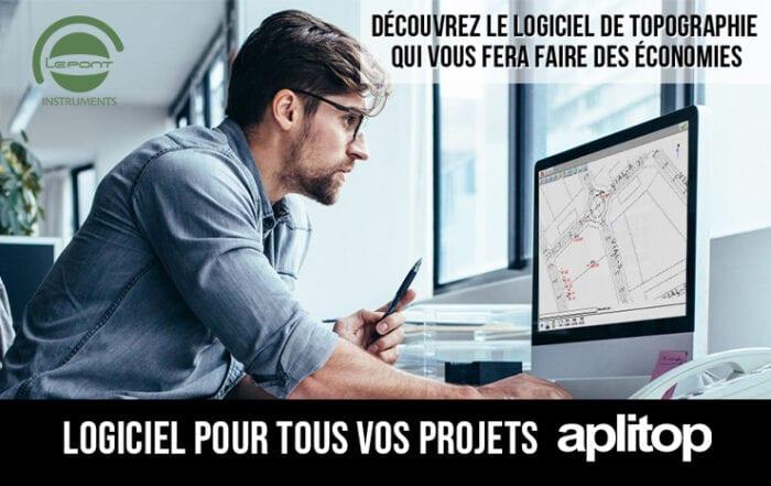 Aplitop, le logiciel de bureau pour vos projets topo