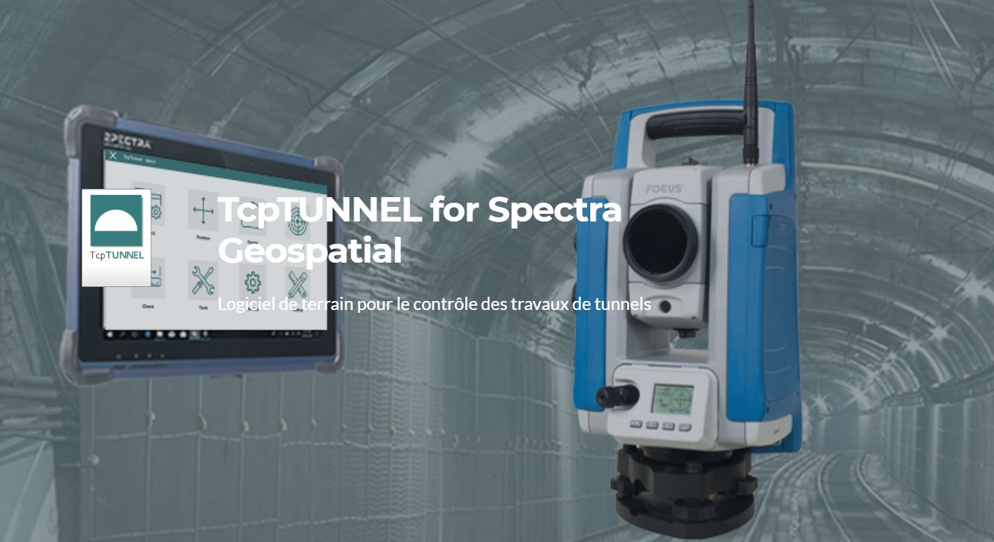Station totale Spectra Focus35 avec Tcp Tunnel