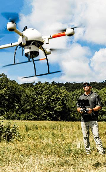 pilote drone lidar